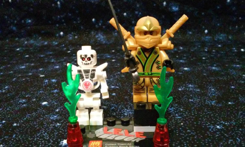 Custom ninjago lloyd gold w bonezai skeleton by minifigfantasyshop - Ninjago lloyd gold ...