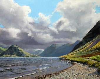 Signed, limited edition print of my painting of Crummock Water.