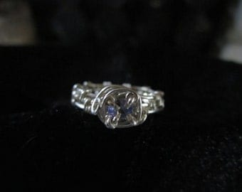 Sterling Silver Tanzanite Ring, Size 5.5