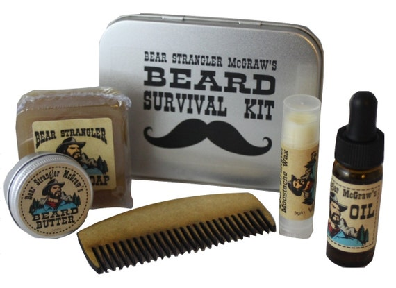 bear strangler mcgraw 39 s beard grooming kit soap by bearstrangler. Black Bedroom Furniture Sets. Home Design Ideas