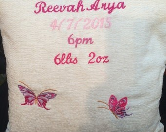 Personalised new baby girlCushion