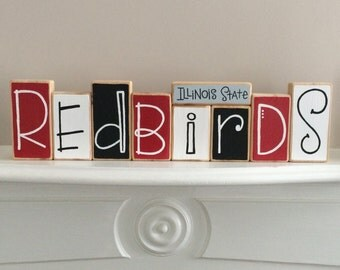 Illinois State University Redbirds Decorative Blocks