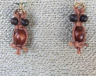 Vintage Owls 70's Macrame Owl Earrings