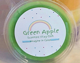 Green apple play dough