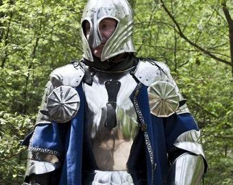 SCA combat armor suit; european gothic plate armor