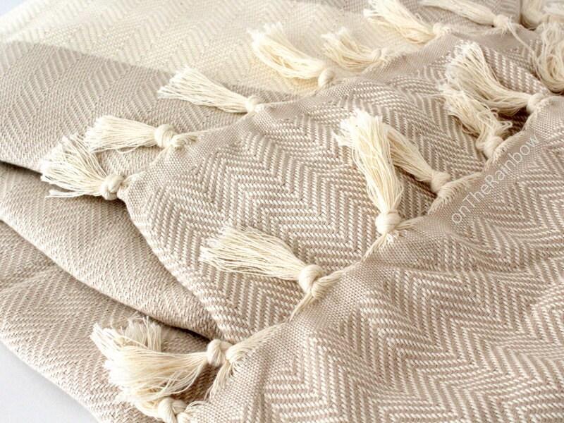 Gray Herringbone Coverlet : Grey herringbone summer blanket queen size by ontherainbow