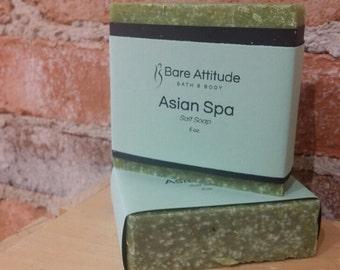 Asian Spa, Sea Salt Soap Bar (Vegan, Palm Free)