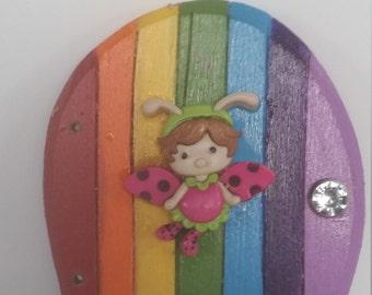 Tiny Fairy Door,Rainbow