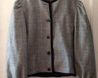 Vintage plaid jacket 36/S, 38/M