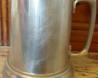 Vintage Aluminum Playboy Beer Mug
