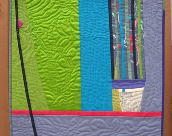Hand Quilted Art Quilt by pam beal