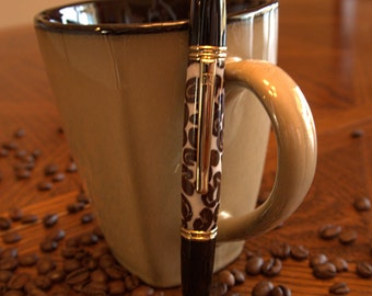handcrafted Gatsby Coffee Bean pen