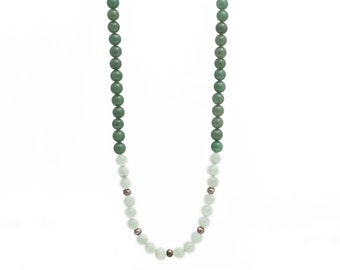 Mossy Green Beaded Necklace