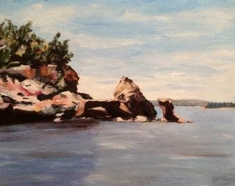 Lake Texoma Original Acrylic Landscape Painting