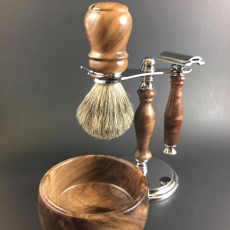 Men S Shaving Kit Handcrafted From American Black Walnut