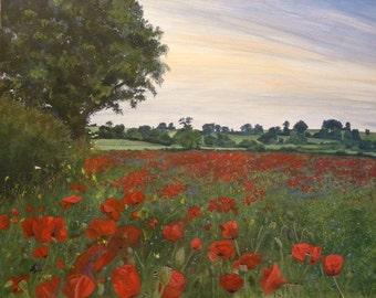 HillArt -  Poppy Field Print