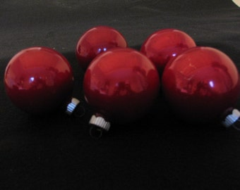 Red Shiny Brite Christmas Ornaments