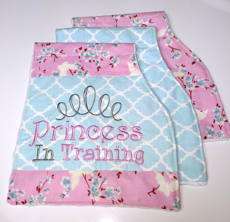 Baby girl Burp cloths set baby burp cloth set Princess In