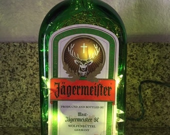 Lighted Jägermaister bottle