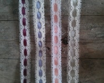 One Metre of Vintage Lace Ribbon - Choice of 4 Colours!