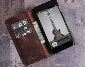 iPhone 6 case leather wallet iPhone 6s plus case boyfriend gift for mens wallet iPhone 6 plus case iPhone 6s case leather iPhone case wallet