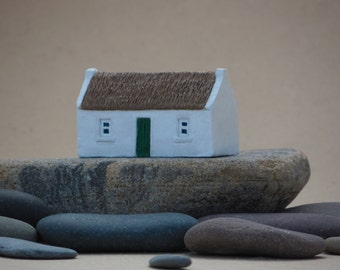 Miniature Irish thatched cottage.Miniature Irish handcraft made in kilkenny Ireland