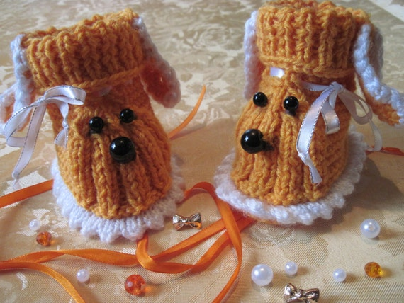 Baby boy gift Birthday Boy booties Wool baby socks Baby child christmas baby gift Baby shoes for boy Soft sole shoes Hand knit  Booties dog