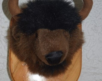 Billy the Bison Stuffidermy! (faux taxidermy)