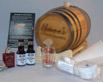 Custom Engraved Oak Barrel Flavoring Kit - Make Your Own Flavored Alcohol
