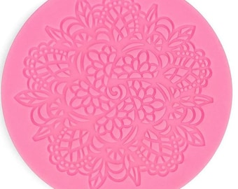 Ashlee Round Lace Design Silicone Fondant Sugarcraft Mould