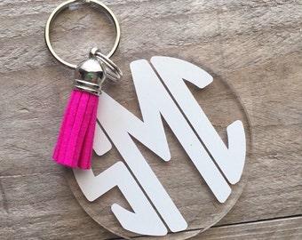 Full Block Monogram Keychain