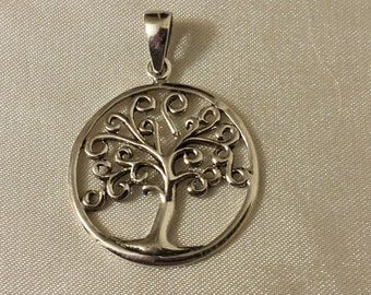 Sterling silver tree of life pendant/charm
