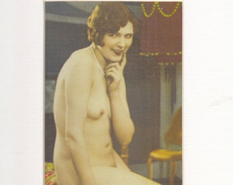 Erotic Print from 30s book   classic pose