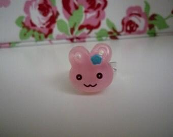 Kawaii Bunny Rabbit Adjustable Ring