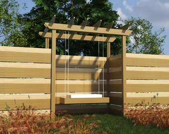 Build your own Pergola with Swing (DIY Plans) Fun to build!!