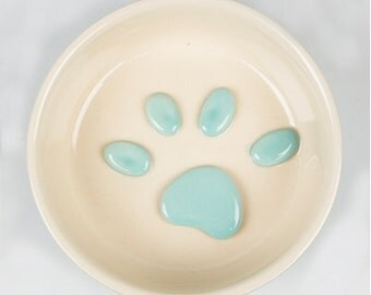 Paws Pet Small Food Bowl Blue
