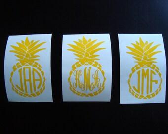 Vinyl Monogram Decal, Monogram Decal, Monogram Sticker