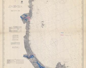 1867 Nautical Map of Wells to Cape Ann Massachusetts