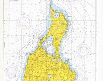 1968 Nautical Map of Block Island Rhode Island