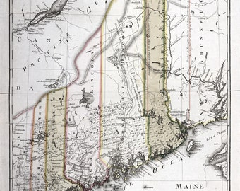 1798 Map of the State of Maine
