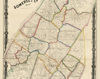 1860 Map of Somerset County Pa