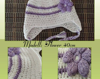 Baby Flower hat with 3D flower