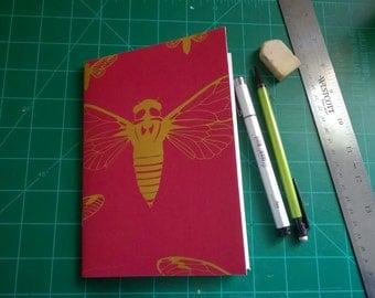 "Cicada Notebook 5x7"""