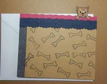 Peeking Dog Card