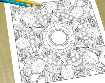 Exquisite Mandala - Adult Coloring Page Print