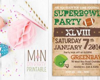 Super Bowl Invitation 3,Super Bowl Party Invitation, Super Bowl Invitation, Football Party, Super Bowl Party, Superbowl Invitation