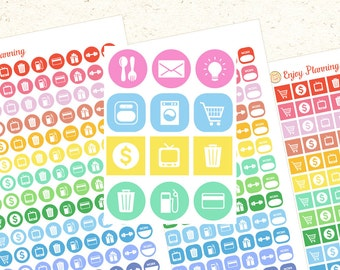 Icons Printable Planner Stickers Printable Icons Printable Planner stickers Set Stickers Icons Stickers planner stickers LIFE Icon Stickers