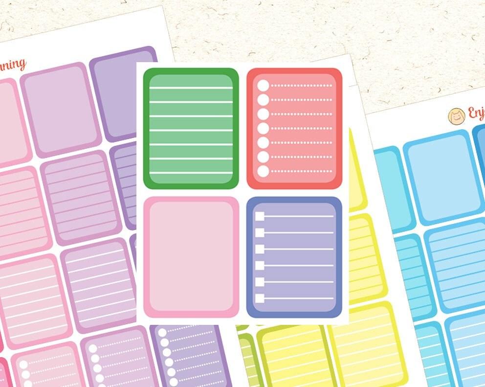 Calendar Planner Erin : Printable checklist stickers planner erin