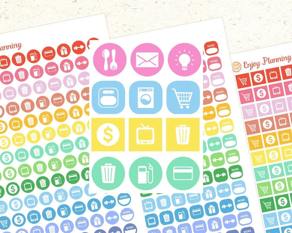 Icons Printable Planner Stickers Printable Icons Printable