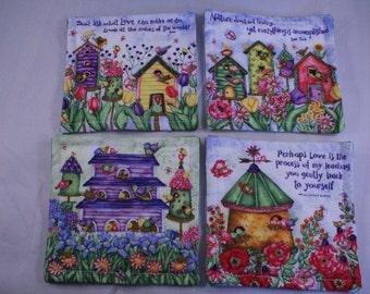Spring Floral Coaster Set